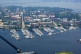 aerial imagery of New Bern Grand Marina New Bern NC US