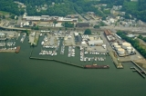 aerial imagery of Westerly Marina Ossining NY US