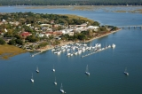 aerial imagery of Downtown Marina of Beaufort Beaufort SC US