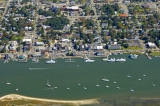 aerial imagery of Beaufort Docks Marina Beaufort NC US
