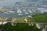 aerial imagery of Sunset Marina Ocean City MD US