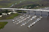 aerial imagery of St. Johns Yacht Harbor Charleston SC US