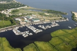 aerial imagery of Aquamarina Sunset Harbour  Patchogue NY US