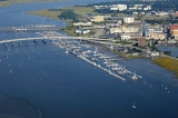 aerial imagery of Charleston City Marina Charleston SC US