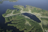 aerial imagery of River Dunes Marina Oriental NC US