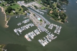 aerial imagery of York River Yacht Haven, a Suntex Marina Gloucester Point VA US