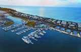 aerial imagery of The Marina at Resorts World Bimini North Bimini BI BS
