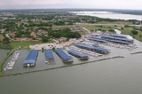 aerial imagery of Captain's Cove Marina, a Suntex Marina Garland TX US