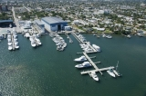 aerial imagery of New Port Cove Marine Center, Palm Beach Inlet Riviera Beach FL US