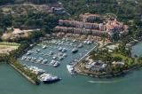 aerial imagery of Marina Puerto de la Navidad Isla Navidad Colima Colima MX