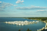 aerial imagery of River Marsh Marina at Hyatt Chesapeake Bay Resort Cambridge MD US