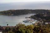 aerial imagery of Errol Flynn Marina & Boat Yard Port Antonio Portland JM