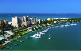 aerial imagery of Pink Shell Beach Resort and Marina Fort Myers Beach FL US