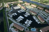 aerial imagery of The Bluffs Marina Jupiter FL US