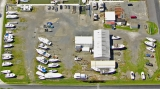 aerial imagery of Kentmorr Yacht Yard Stevensville MD US