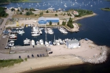 aerial imagery of The Marina at Rhode Island Mooring Services North Kingstown RI US