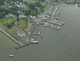 aerial imagery of Harbor Island Marina- Solomons Solomons MD US