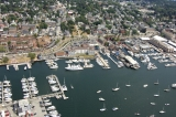 aerial imagery of The Newport Harbor Hotel & Marina Newport RI US