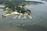 aerial imagery of Mystic Point Marina Mystic CT US