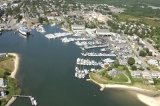 aerial imagery of Hyannis Marina, Cape Cod's finest full service resort marina. Hyannis MA US