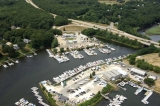 aerial imagery of Silver Spring Marina Wakefield RI US
