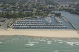 aerial imagery of Washington Park Marina Michigan City IN US
