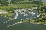 aerial imagery of Campbell's Bachelor Pt. Yacht Company Oxford MD US