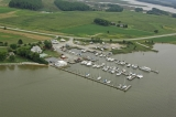 aerial imagery of Slaughter Creek Marina at Taylors Island Taylors Island MD US