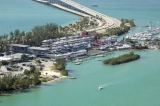 aerial imagery of Marine Stadium Marina in the heart of Miami Key Biscayne FL US