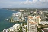 aerial imagery of Hyatt Regency Sarasota on Sarasota Bay Sarasota FL US