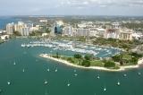 aerial imagery of Marina Jack Sarasota FL US