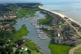 aerial imagery of Salt Ponds Marina Resort Hampton VA US
