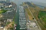 aerial imagery of Liberty Landing Marina  Jersey City NJ US