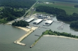aerial imagery of Tolchester Marina Chestertown MD US
