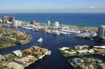 aerial imagery of Bahia Mar Yachting Center Fort Lauderdale FL US