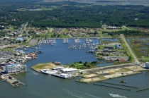 aerial imagery of Somers Cove Marina Crisfield MD US