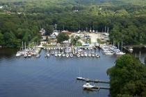aerial imagery of Oak Harbor Marina Pasadena MD US