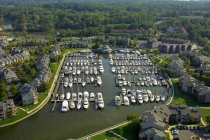 aerial imagery of Chesapeake Harbour Marina Annapolis MD US