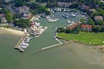 aerial imagery of Harbour Town Yacht Basin, Hilton Head Hilton Head Island SC US