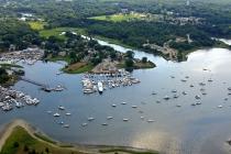 aerial imagery of Wickford Marina Wickford RI US
