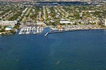 aerial imagery of Lake Park Harbor Marina Lake Park FL US