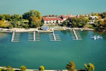 aerial imagery of Jackson Park Outer Harbor, the Chicago Harbors Chicago IL US