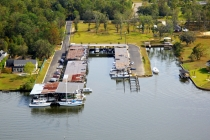 aerial imagery of Scenic Yacht Basin Marina Mobile AL US
