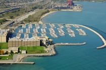 aerial imagery of Hammond Marina Hammond IN US