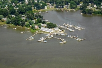 aerial imagery of Monroe Bay Marina and Campground Colonial Beach VA US