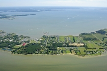 aerial imagery of Tilghman-On-Chesapeake Tilghman Island MD US