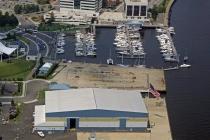 aerial imagery of Ocean Yacht Marina, A Suntex Marina Portsmouth VA US