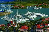 aerial imagery of Simpson Bay Marina Philipsburg St. Maarten NA AN