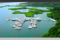 aerial imagery of Red Frog Beach Marina Isla Bastimentos Bocas del Toro PA