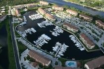 aerial imagery of The Bluffs Marina Jupiter FL US